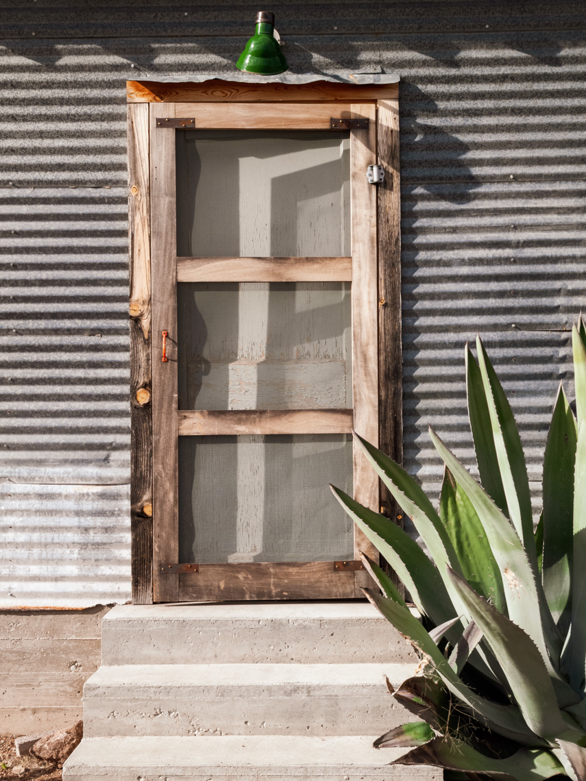 Bunkhouse Door and Cactus