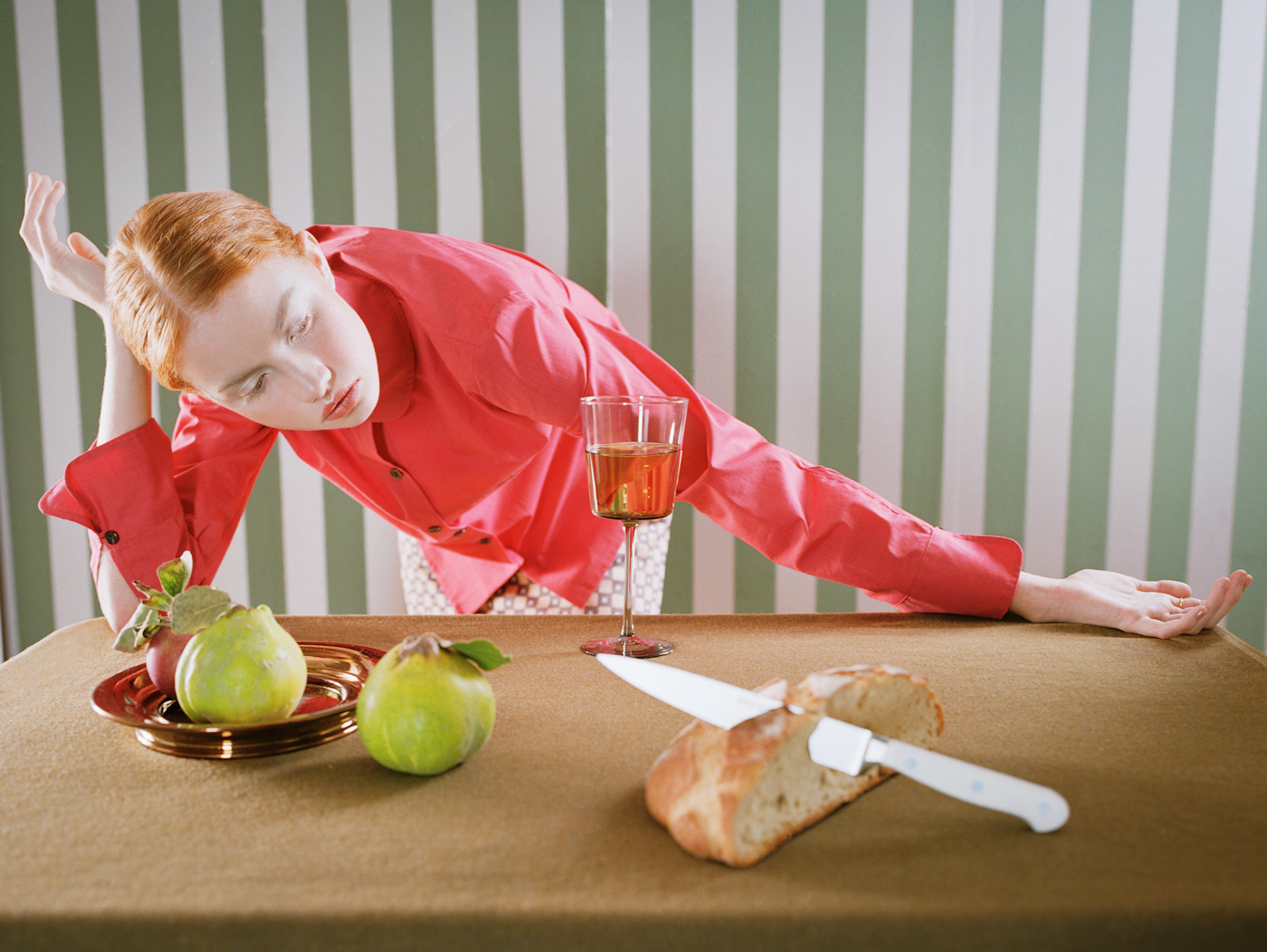 After Balthus | Girl Table Knife
