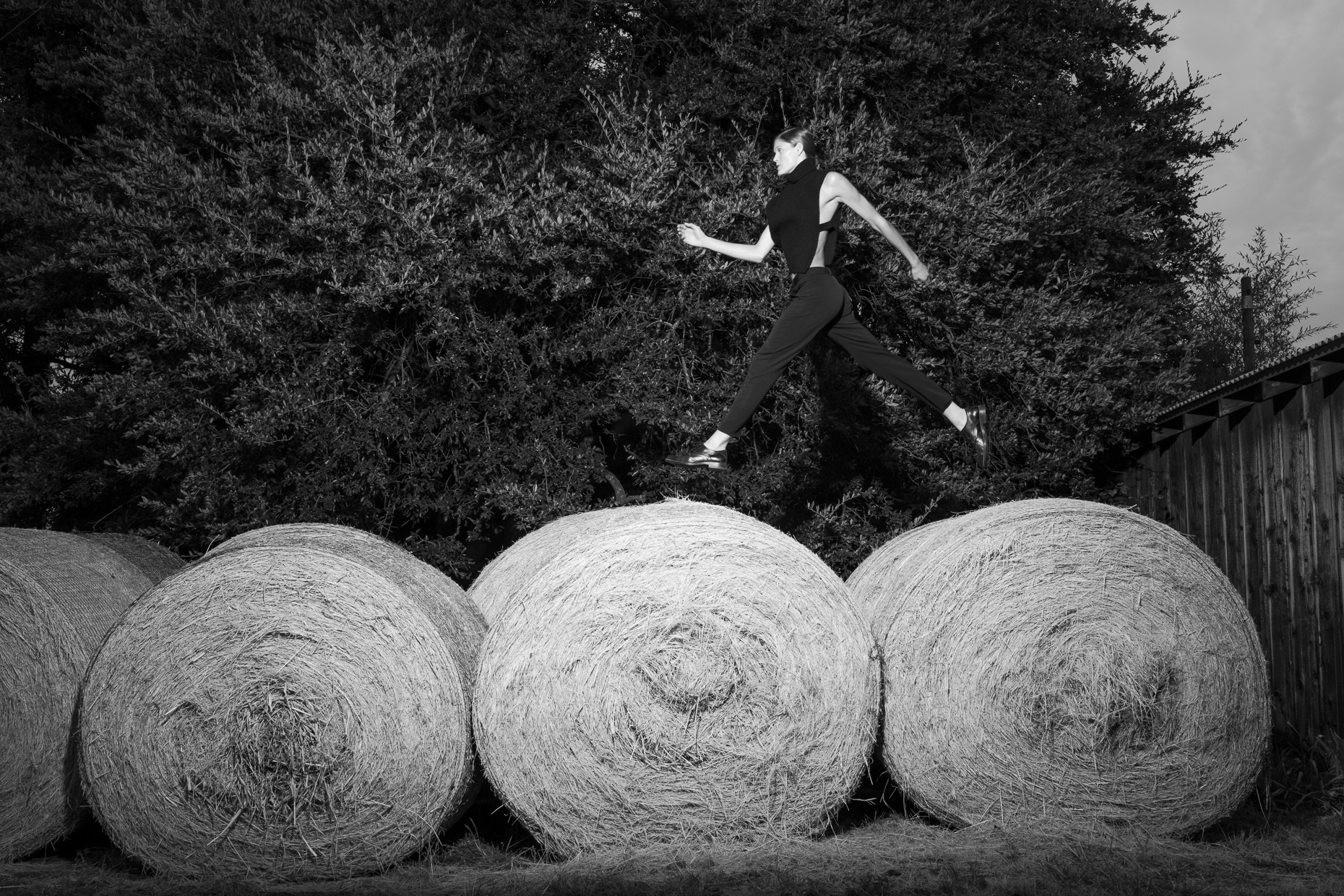 Blurring the Line | Leaping on Bales