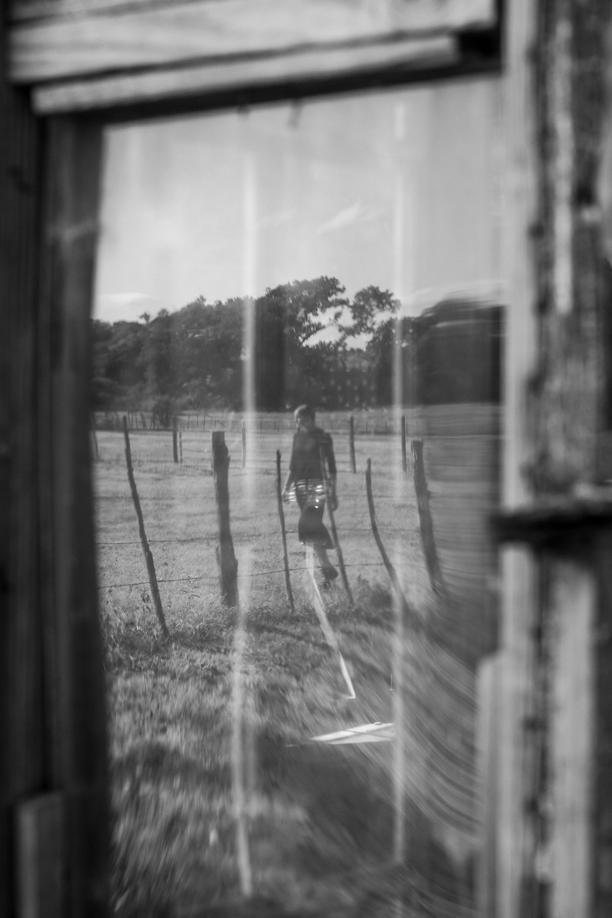 Blurring the Line | Reflection in Glass Door