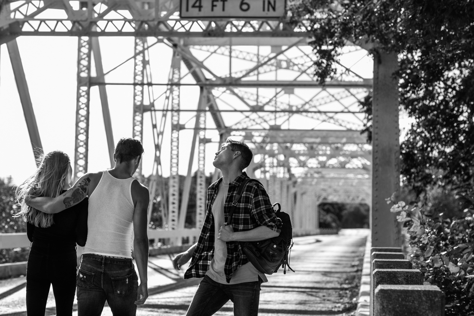 Thom Jackson Fine Art Photo_Kate, Matt, Edward, On the Bridge Exit 294