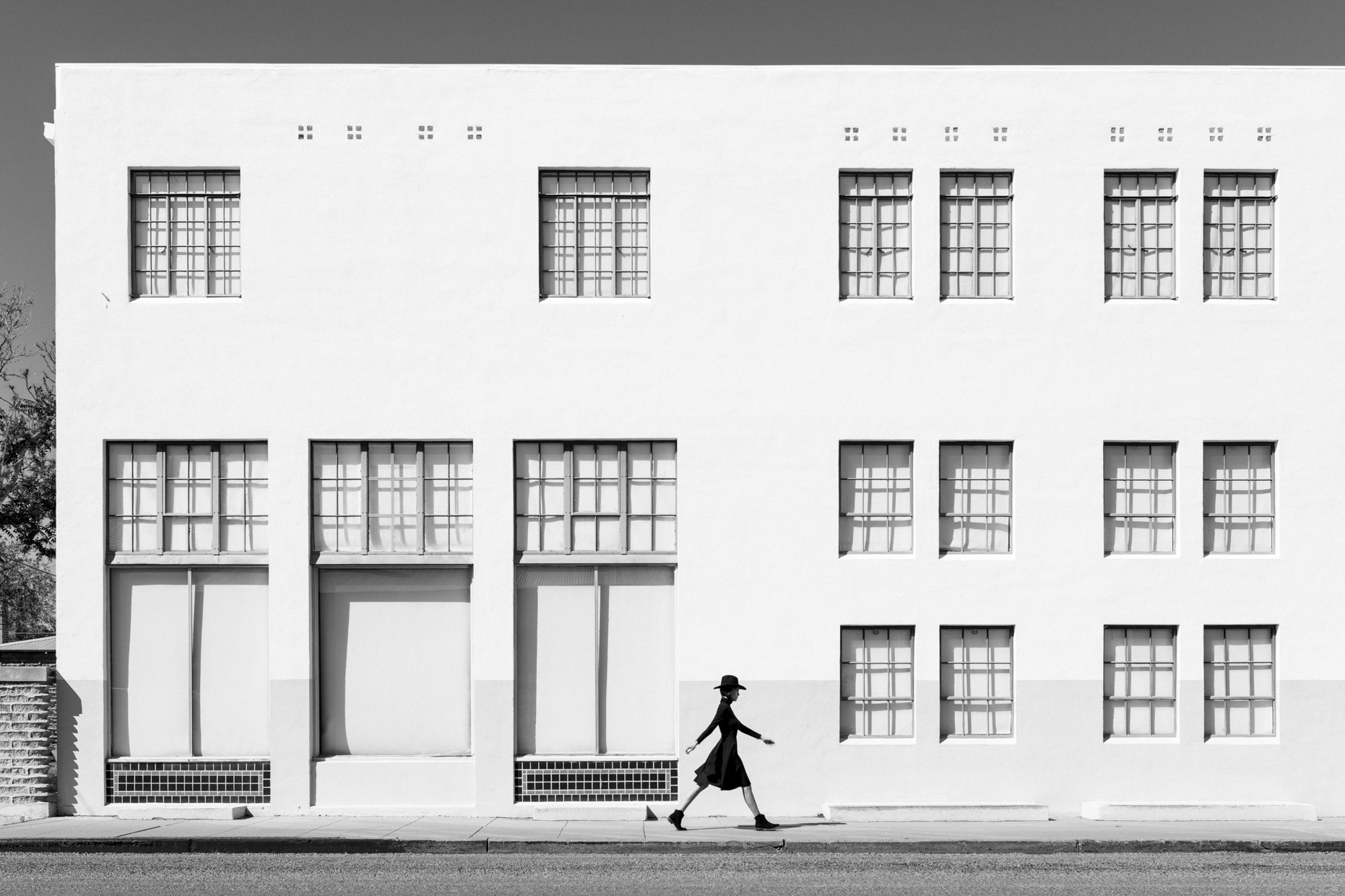 Thom Jackson Fine Art Photo_Kate Walking White Building